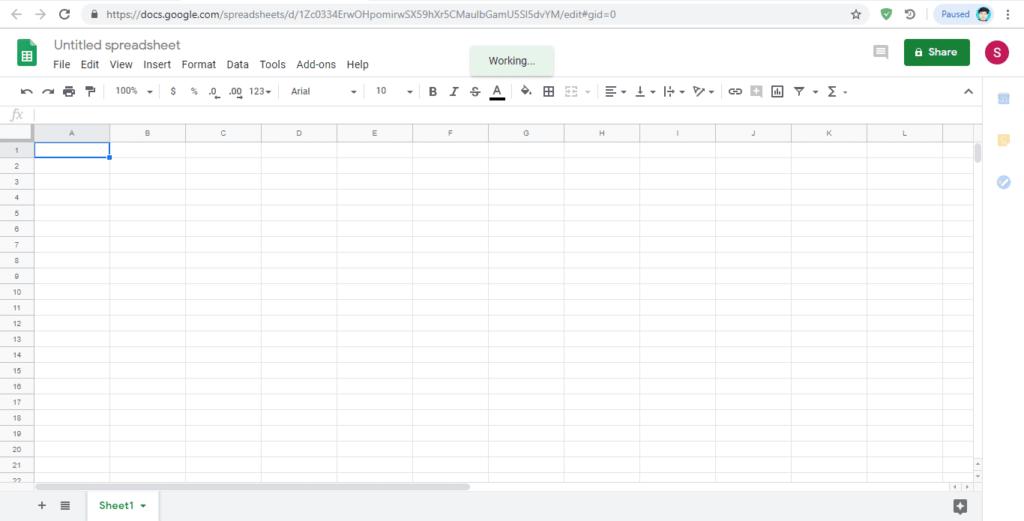 google drive spreadsheet