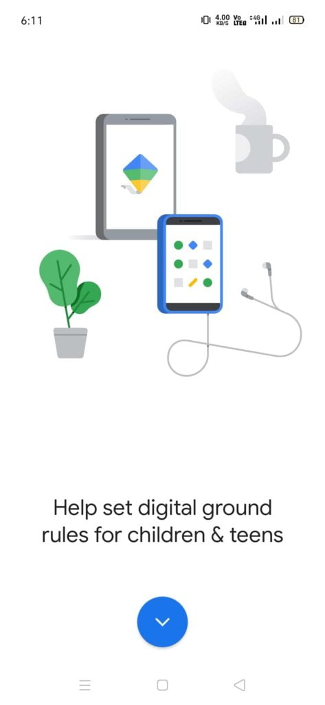 google family link app setup step 1
