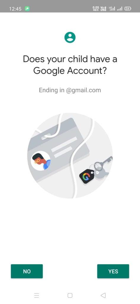 google family link app setup step 5