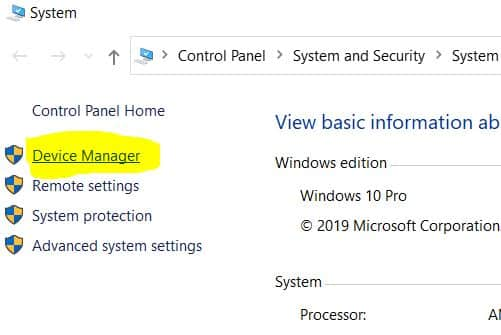 2. Windows 10 System properties