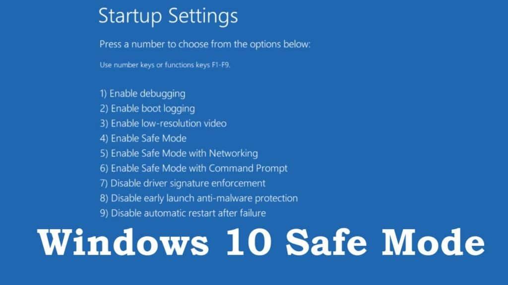 3. Windows 10 startup settings